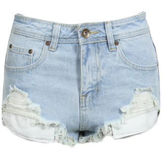 View Item Distressed Denim Hot Pants